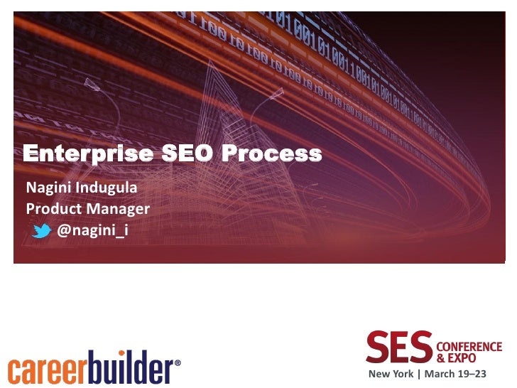 Enterprise SEO ProcessNagini IndugulaProduct Manager    @nagini_i                         New York   March 19–23