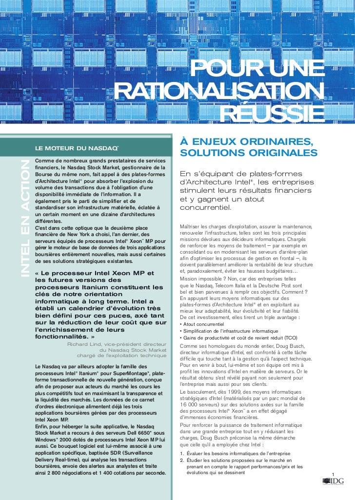 IntelF3.qxd               8/8/03    5:13 pm    Page 1                                                              POUR UN...