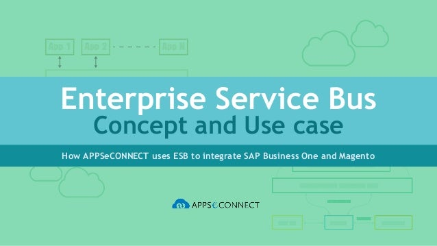 Enterprise Service Bus Concept and Use case How APPSeCONNECT uses ESB to integrate SAP Business One and Magento