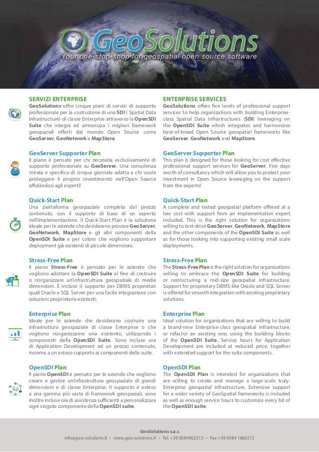 GeoSolutions s.a.s info@geo-solutions.it • www.geo-solutions.it • Tel. +39 0584962313 • Fax +39 0584 1660272 SERVIZI...