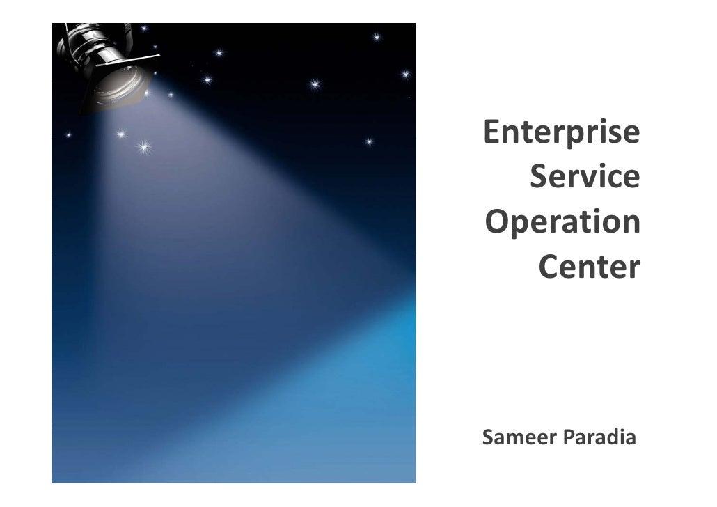 Enterprise                 Enterprise                    Service                 Operation                    CenterENT...