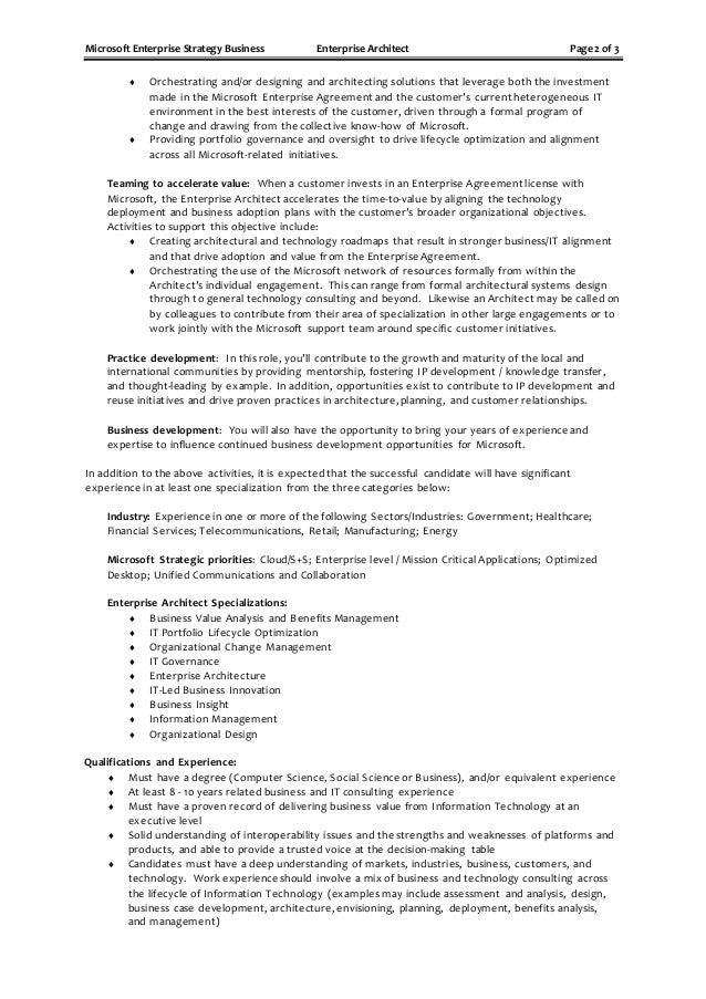 enterprise architecture job description - Khafre