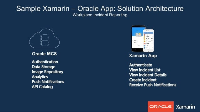 Enterprise mobile success with oracle and xamarin for Xamarin architecture