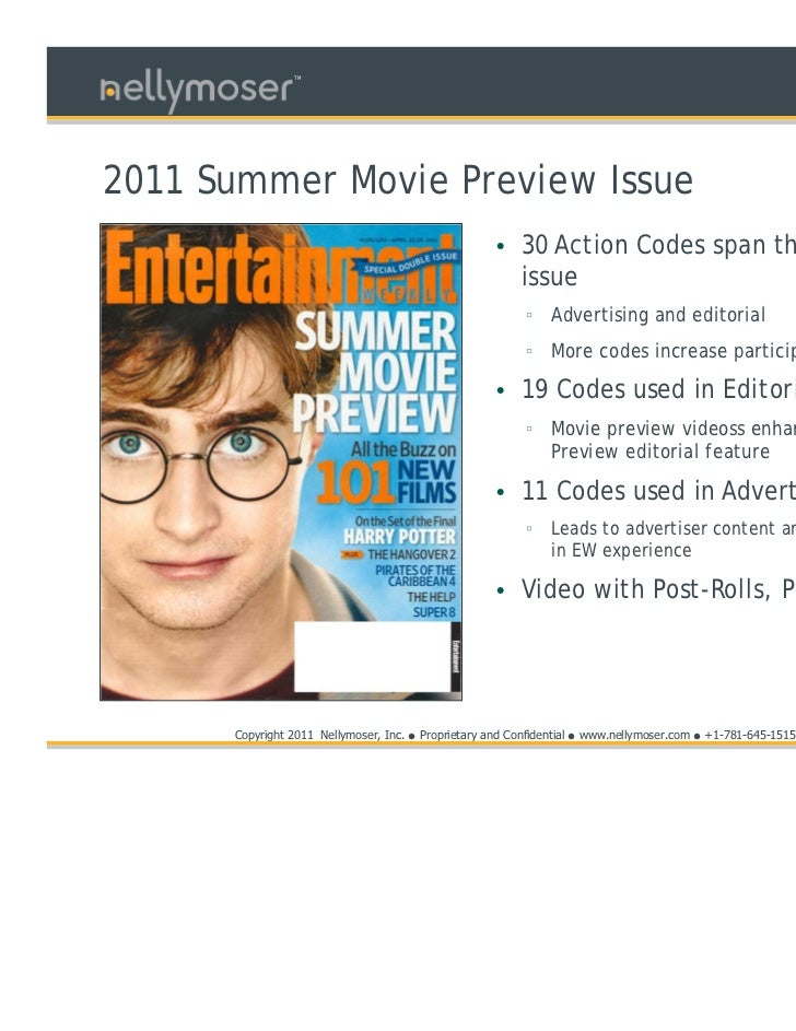 TM2011 Summer Movie Preview Issue                                                         • 30 Action Codes span the entir...