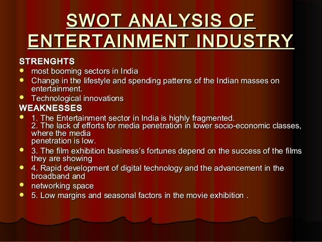 an analysis of the rating industry in entertainment The entertainment industry is one of the largest sectors of the us economy and  is in fact becoming one of most prominent globally as well, in movies, music,.