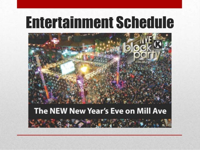 Entertainment Schedule