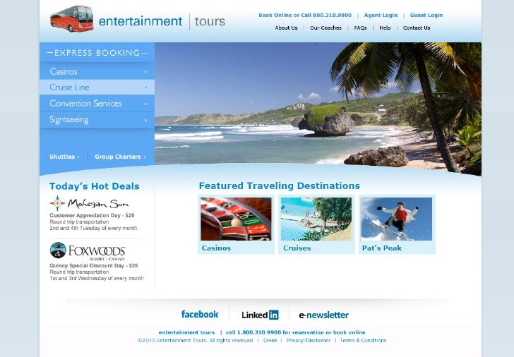 Entertainment Tours website