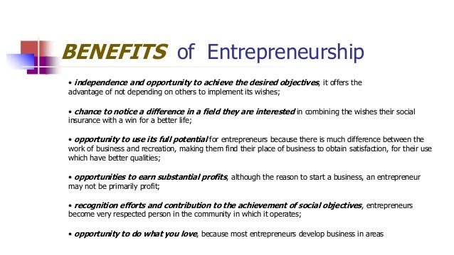 advantages of social entrepreneurship pdf