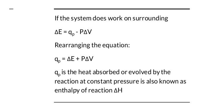 Standard Enthalpy Changes of Reactions