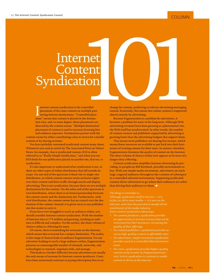 By The Internet Content Syndication Council                                                                               ...