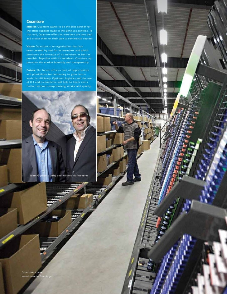 XXxx   Quantore   Mission Quantore wants to be the best partner for   the office supplies trade in the Benelux countries. ...