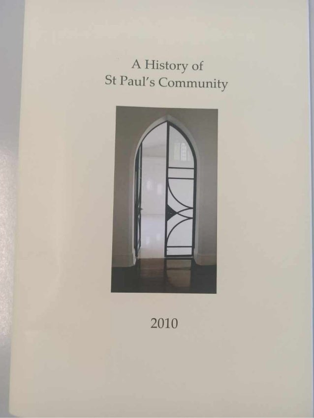 A History of St Paul's Community - compressed