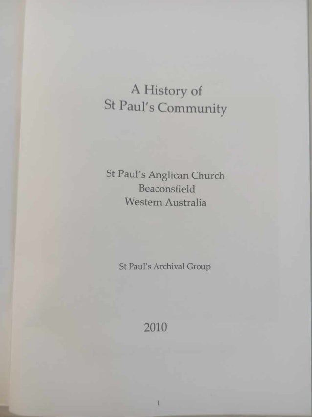 A History of St Paul's Community - compressed Slide 2