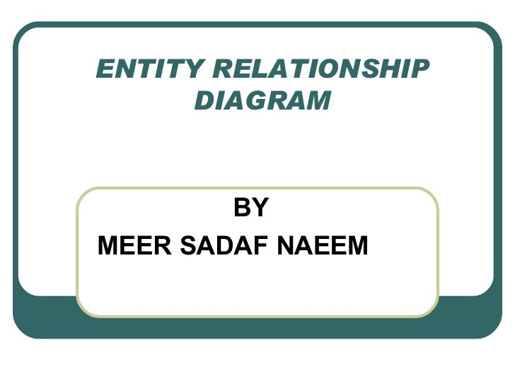 ENTITY RELATIONSHIP DIAGRAM BY MEER SADAF NAEEM