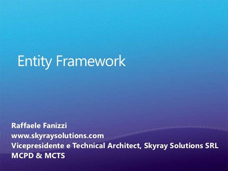 ADO.NET Entity Framework 4