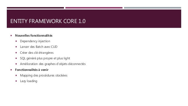 Entity Framework Core & Micro-Orms with Asp Net Core