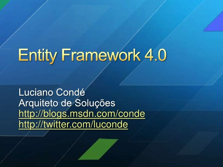 Deep Dive sobre Entity Framework