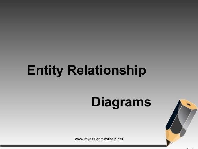 Entity Relationship Diagrams www.myassignmenthelp.net