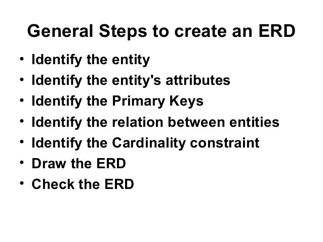entity relationship diagram  erd