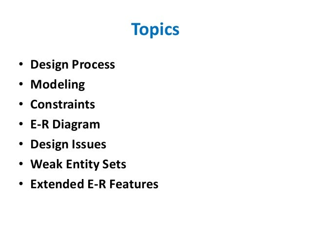 Entity Relationship Model Slide 3