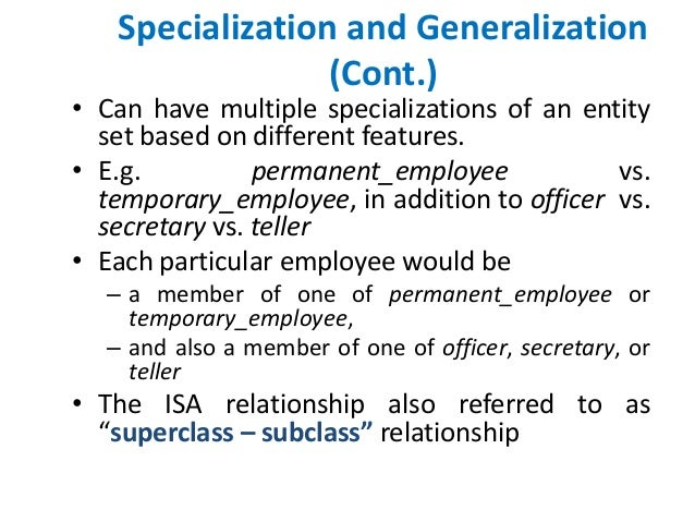specialization vs generalization Bshs 355 week 2 individual assignment specialization vs generalization: side by side comparison complete the chart provided word count is 900-1100 words.