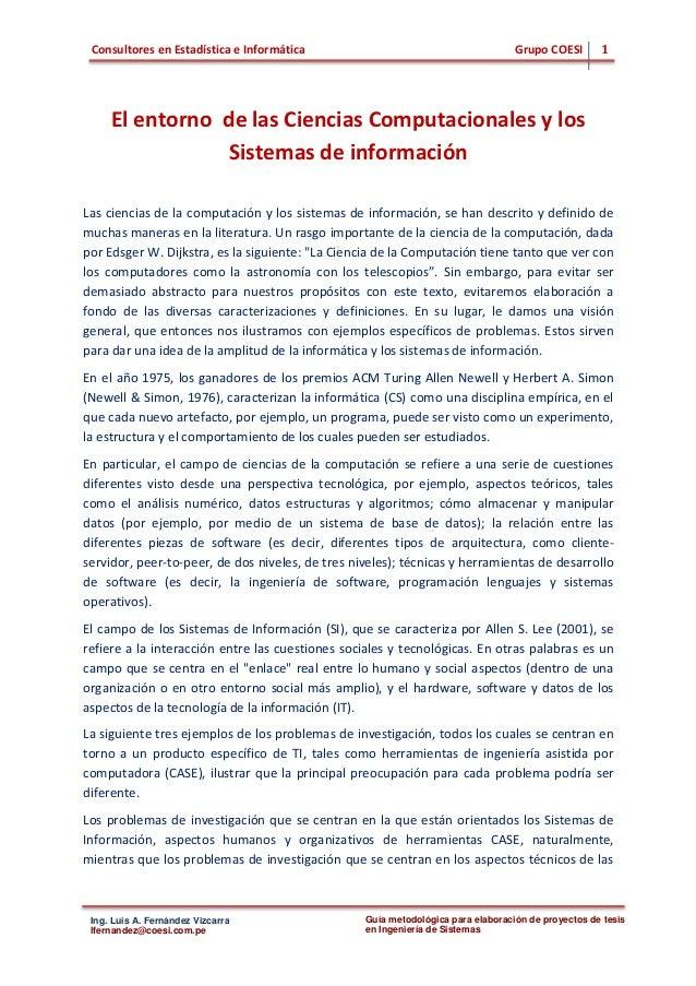 Consultores en Estadística e Informática Grupo COESI 1 Ing. Luis A. Fernández Vizcarra lfernandez@coesi.com.pe Guía metodo...