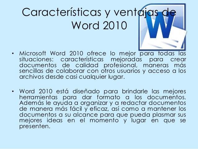 Entorno de word 2010 Slide 2