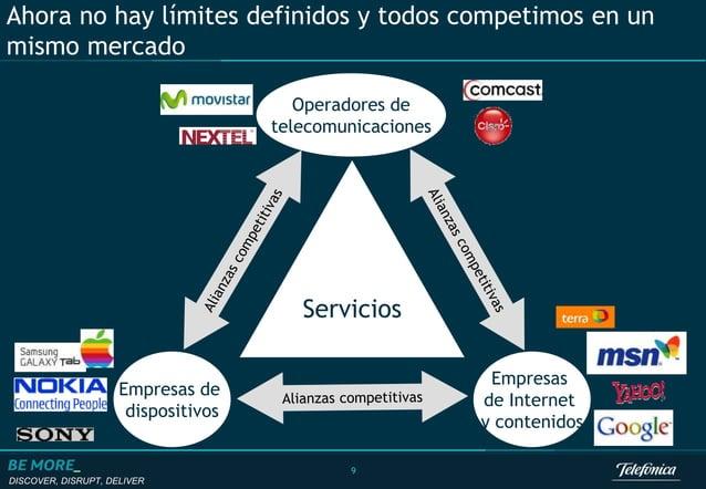 DISCOVER, DISRUPT, DELIVER 9 Ahora no hay límites definidos y todos competimos en un mismo mercado Servicios Operadores de...