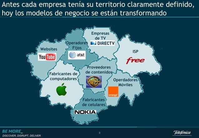 DISCOVER, DISRUPT, DELIVER 8 Antes cada empresa tenía su territorio claramente definido, hoy los modelos de negocio se est...