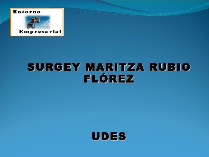 SURGEY MARITZA RUBIO FLÓREZ UDES