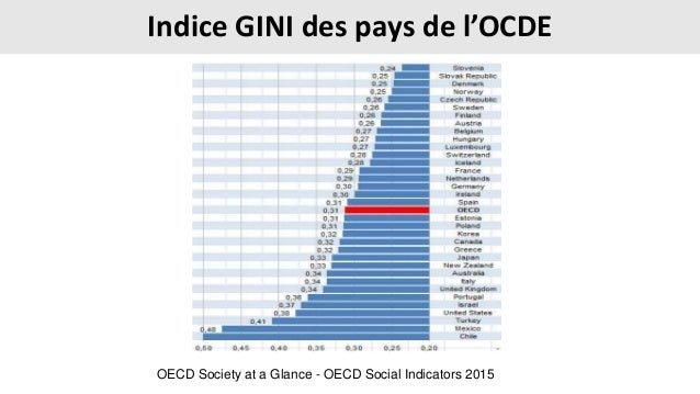 Indice GINI des pays de l'OCDE OECD Society at a Glance - OECD Social Indicators 2015