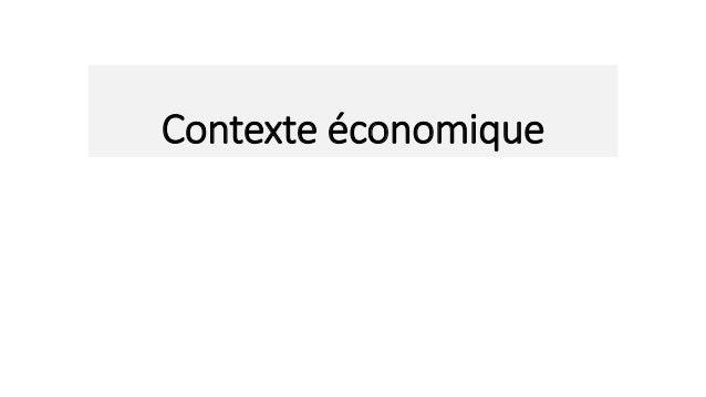 Contexte économique