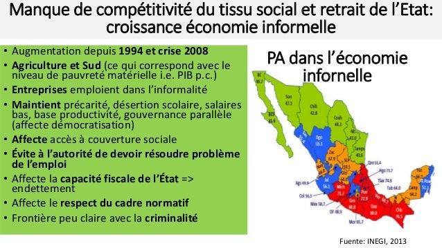 • Augmentation depuis 1994 et crise 2008 • Agriculture et Sud (ce qui correspond avec le niveau de pauvreté matérielle i.e...