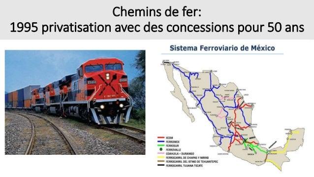• L'Infrastructure: concentrées sur les axes vers les EUA (appui de la politique publique) ainsi que les villes (centres f...