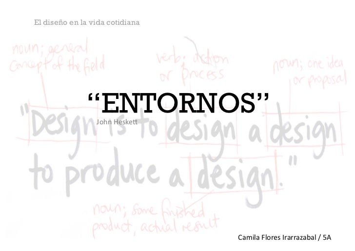 """El diseño en la vida cotidiana              """"ENTORNOS""""                 John Heske*                                    ..."""