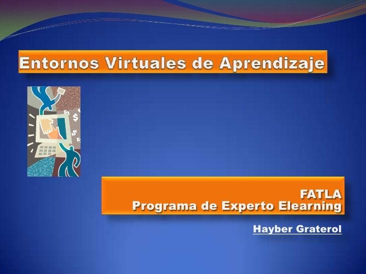 Entornos Virtuales de Aprendizaje<br />FATLAPrograma de Experto Elearning<br />Hayber Graterol<br />