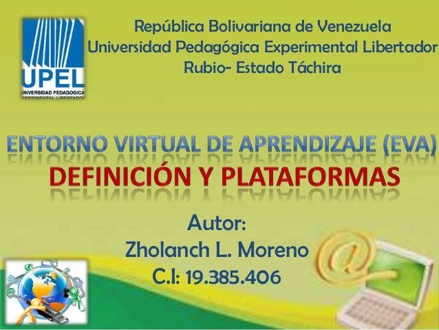 República Bolivariana de VenezuelaUniversidad Pedagógica Experimental Libertador             Rubio- Estado Táchira        ...