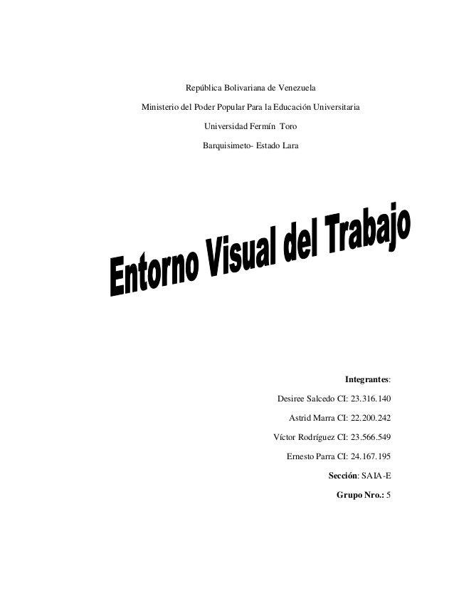 República Bolivariana de Venezuela Ministerio del Poder Popular Para la Educación Universitaria Universidad Fermín Toro Ba...