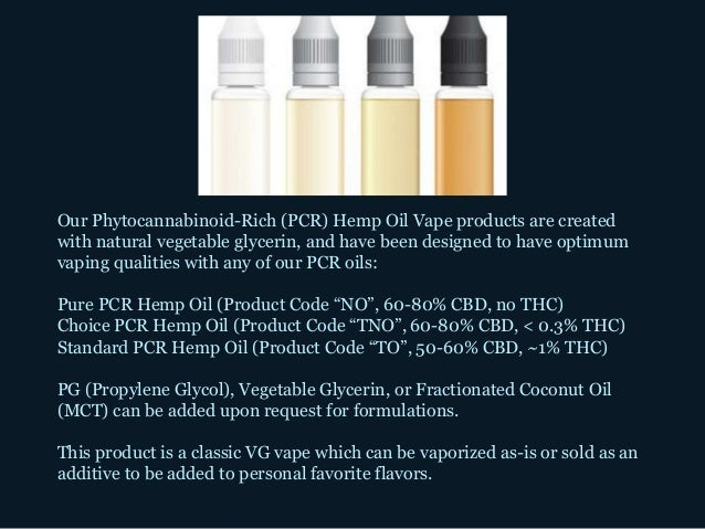Our Phytocannabinoid-Rich (PCR) Hemp Oil Vape products are created with natural vegetable glycerin, and have been designed...
