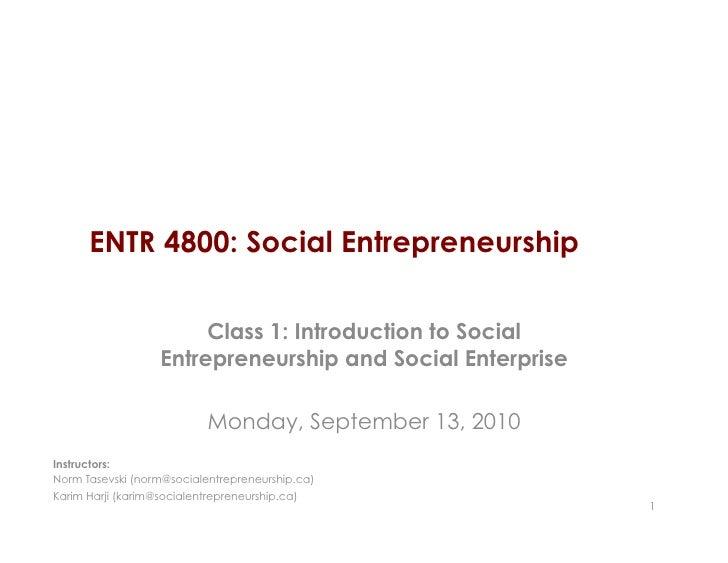 entr4800 class 1 definitions and examples of social entrepreneurship