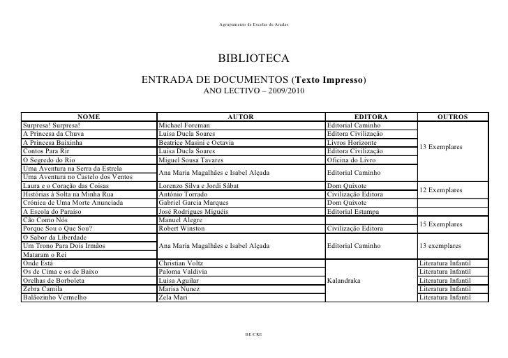 Agrupamento de Escolas de Aradas                                                                BIBLIOTECA                ...