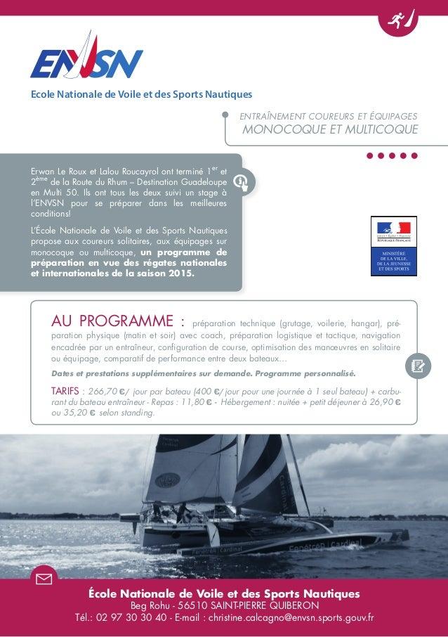 Erwan Le Roux et Lalou Roucayrol ont terminé 1 er et 2 ème de la Route du Rhum – Destination Guadeloupe en Multi 50. Ils o...
