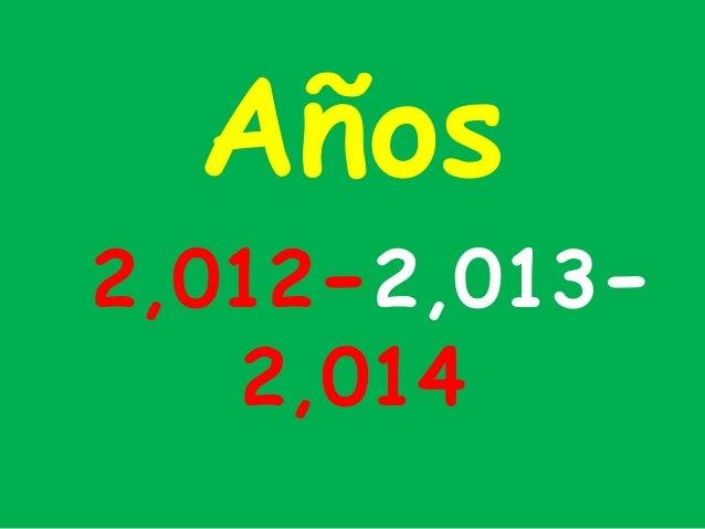 Años2,012-2,013-   2,014