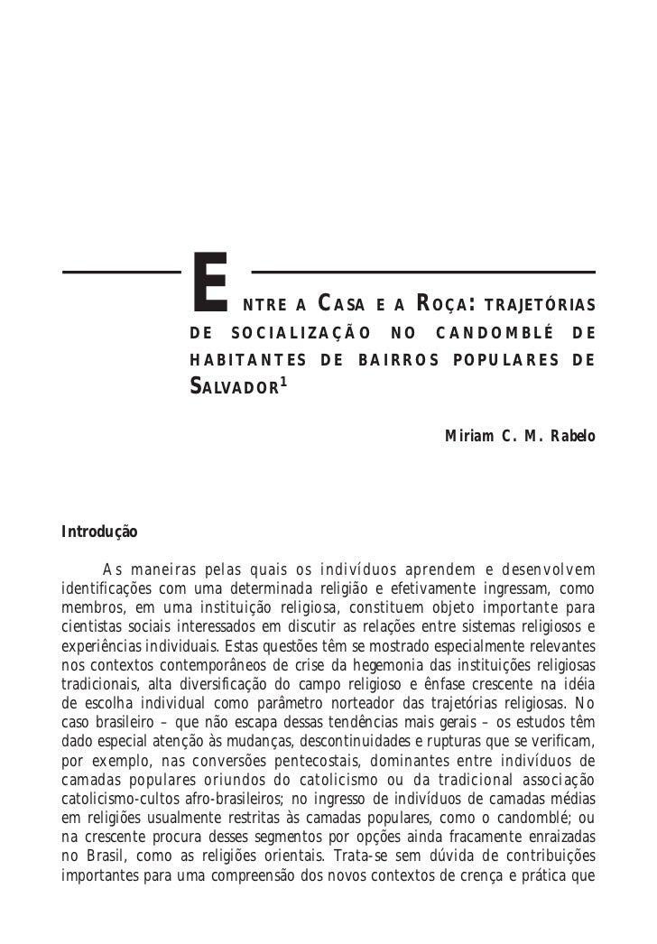 176                                 Religião e Sociedade, Rio de Janeiro, 28(1): 176-205, 2008                   E        ...