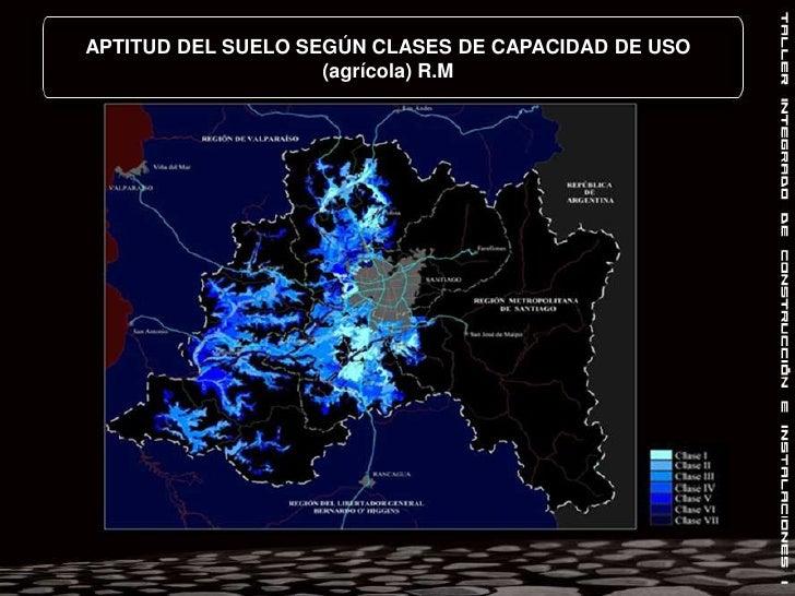 APTITUD DEL SUELO SEGÚN CLASES DE CAPACIDAD DE USO (agrícola) R.M<br />