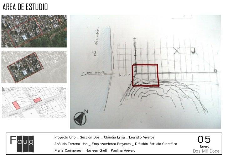 AREA DE ESTUDIO                  Proyecto Uno _ Sección Dos _ Claudia Lima _ Leandro Viveros                  Análisis Ter...