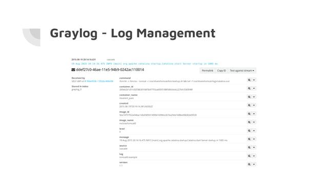 Graylog - Log Management