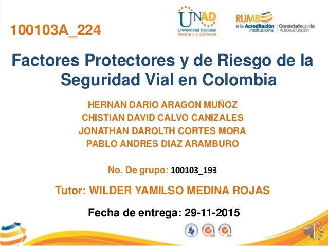 100103A_224 Factores Protectores y de Riesgo de la Seguridad Vial en Colombia HERNAN DARIO ARAGON MUÑOZ CHISTIAN DAVID CAL...