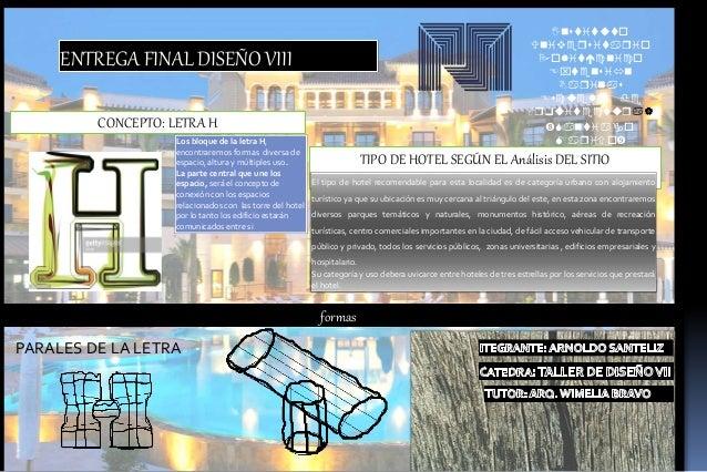 Instituto Universitario oitnio tensin Barinas suea de Arquitetura  antiao ario CONCEPTO: LETRA H ENTREGA...