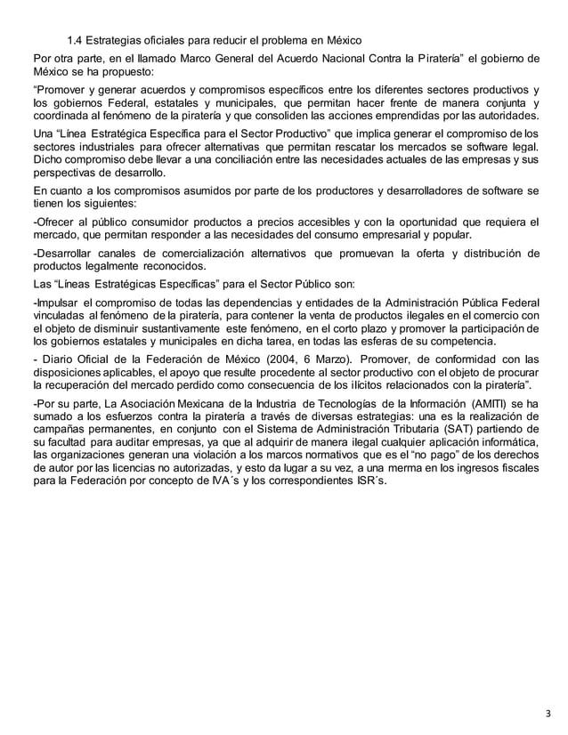 1.4 Estrategias oficiales para reducir el problema en México Por otra parte, en el llamado Marco General del Acuerdo Nacio...